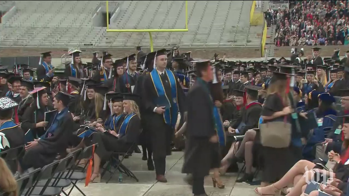 A Bunch of Notre Dame Students Dipped Out of Graduation When Mike Pence Started Speaking