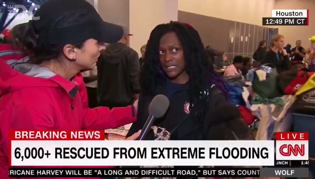 Houston Flood Victim Claps Back At CNN Reporter The Way I Always Imagined Somebody Would in this Situation