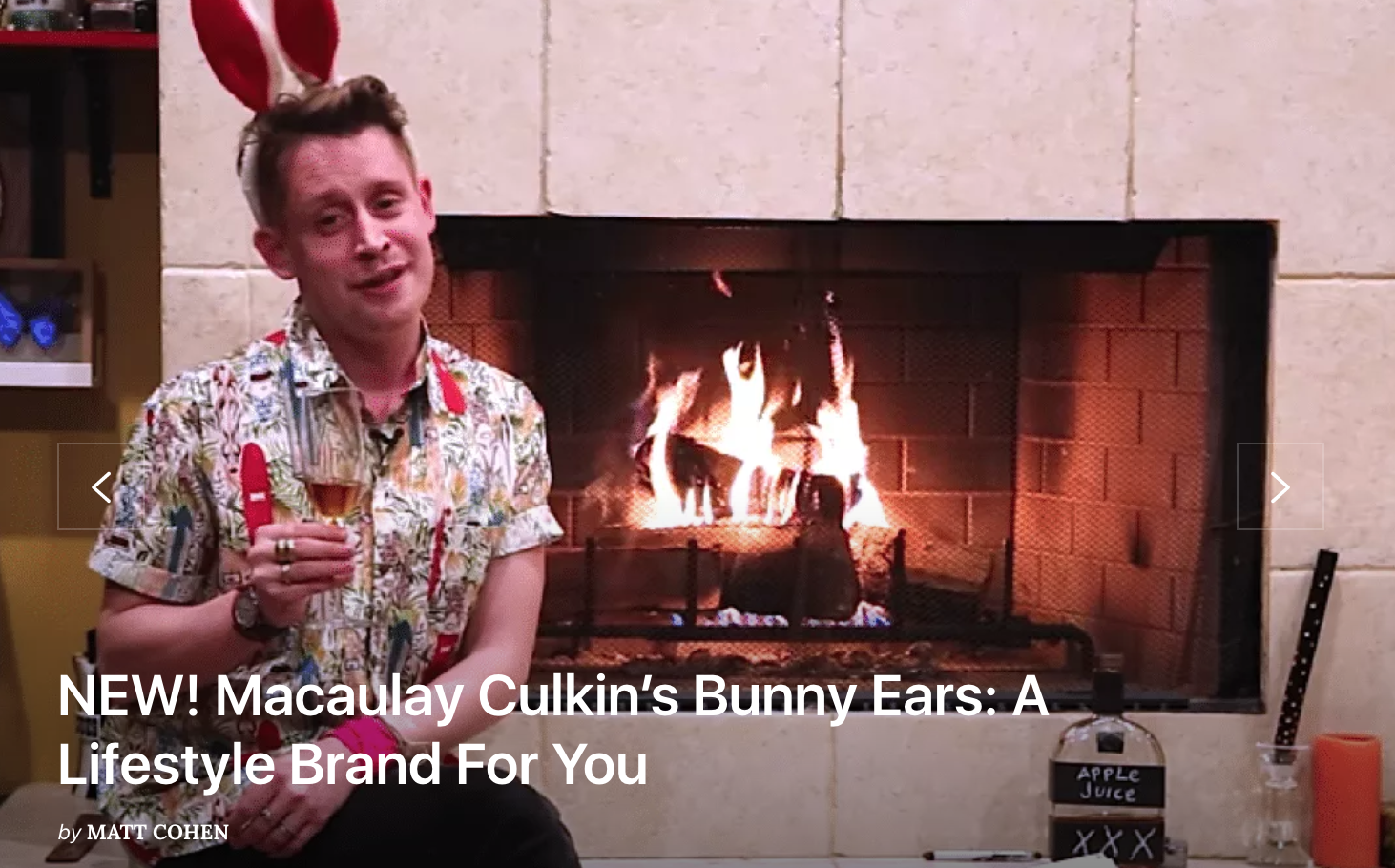 This is an Official Offer for Macaulay Culkin to Come Work at Two Buttons Deep