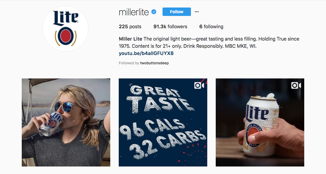 Has My Internet Fame Reached its Peak With This Miller Lite Instagram Post?