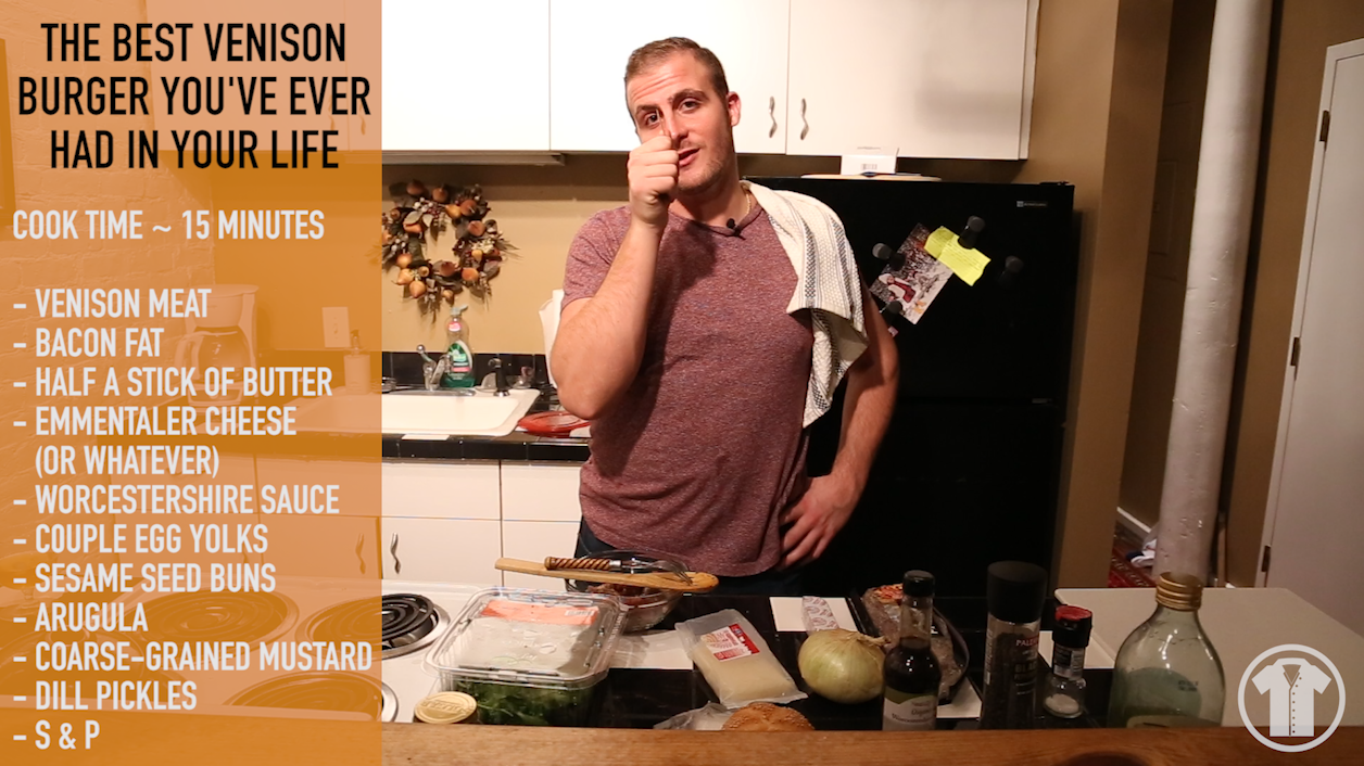 The Bachelor's Chop – Venison Burger