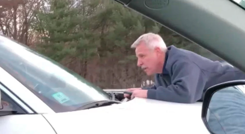65-Year-Old Rides 65MPH+ On The Hood Of A Car In A Road Rage Altercation