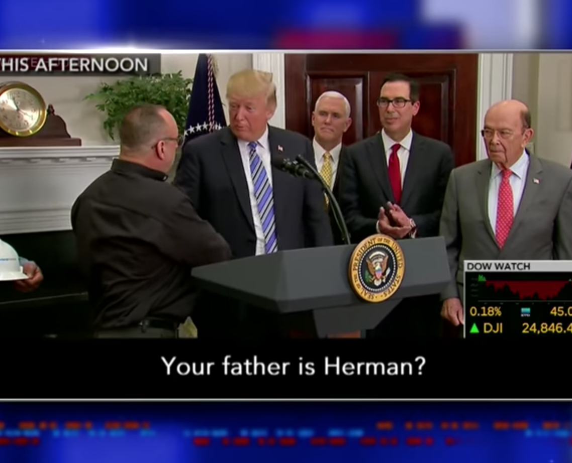 It Wouldn't be a Trump Press Conference Without a Cringeworthy Moment like this