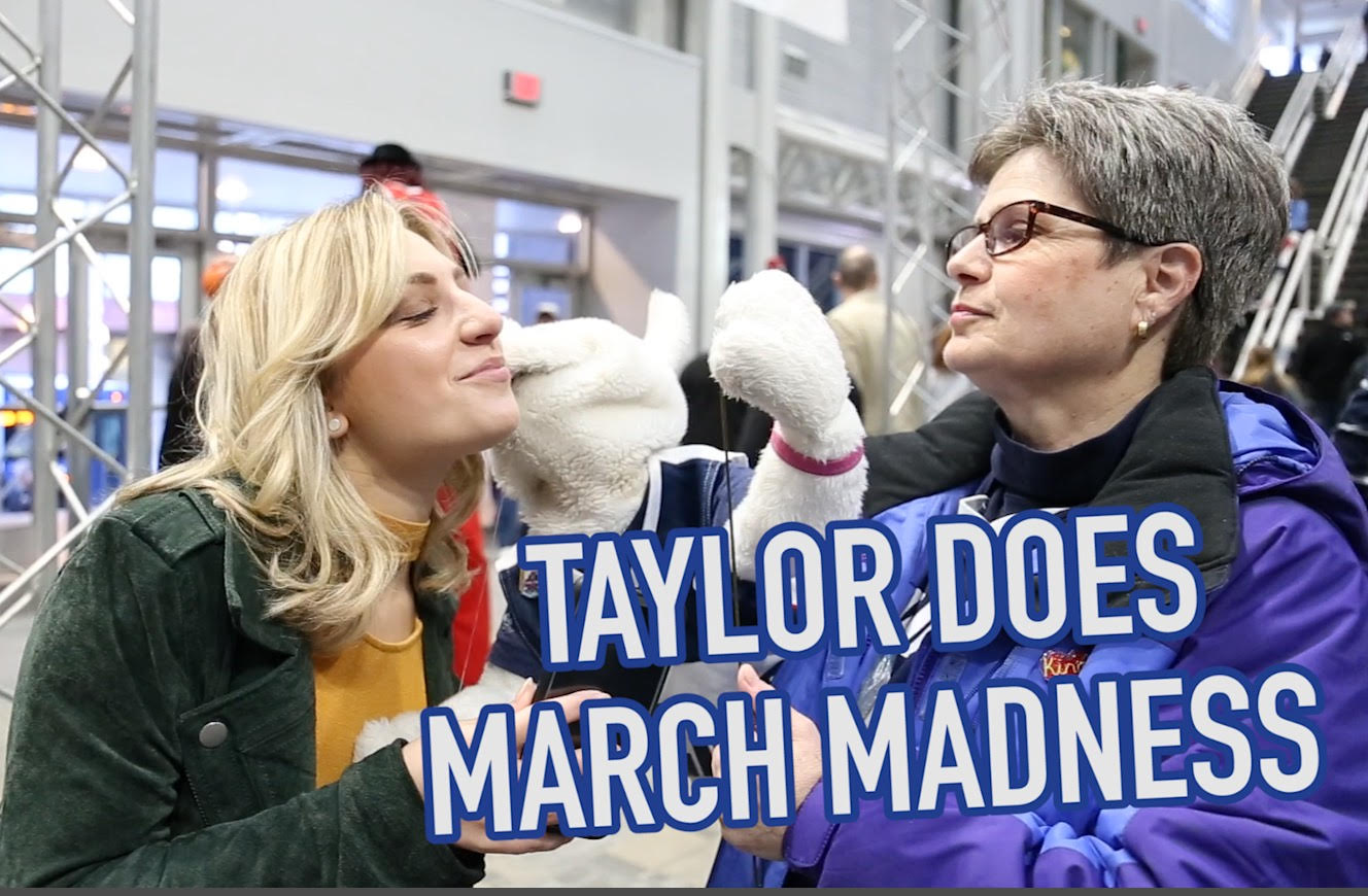 Taylor Does March Madness at the Albany Times Union Center