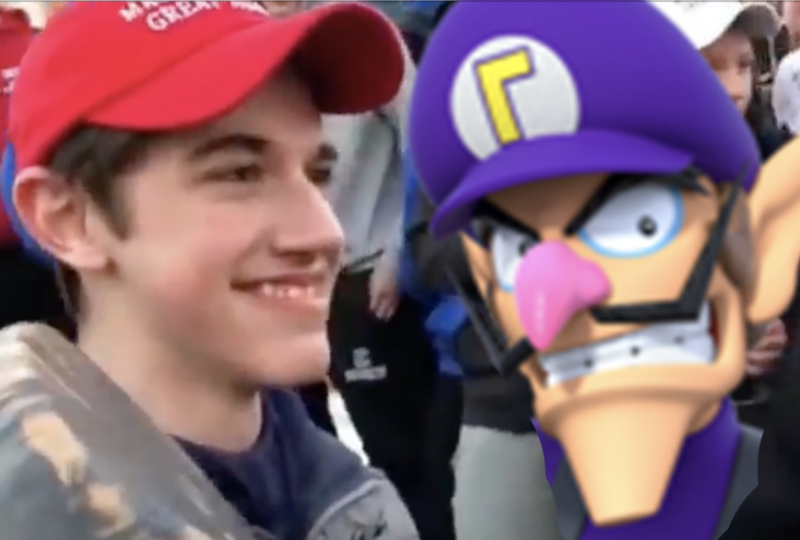 Is Smirking MAGA Boy Actually Just Waluigi In Real Life? An Investigative Report