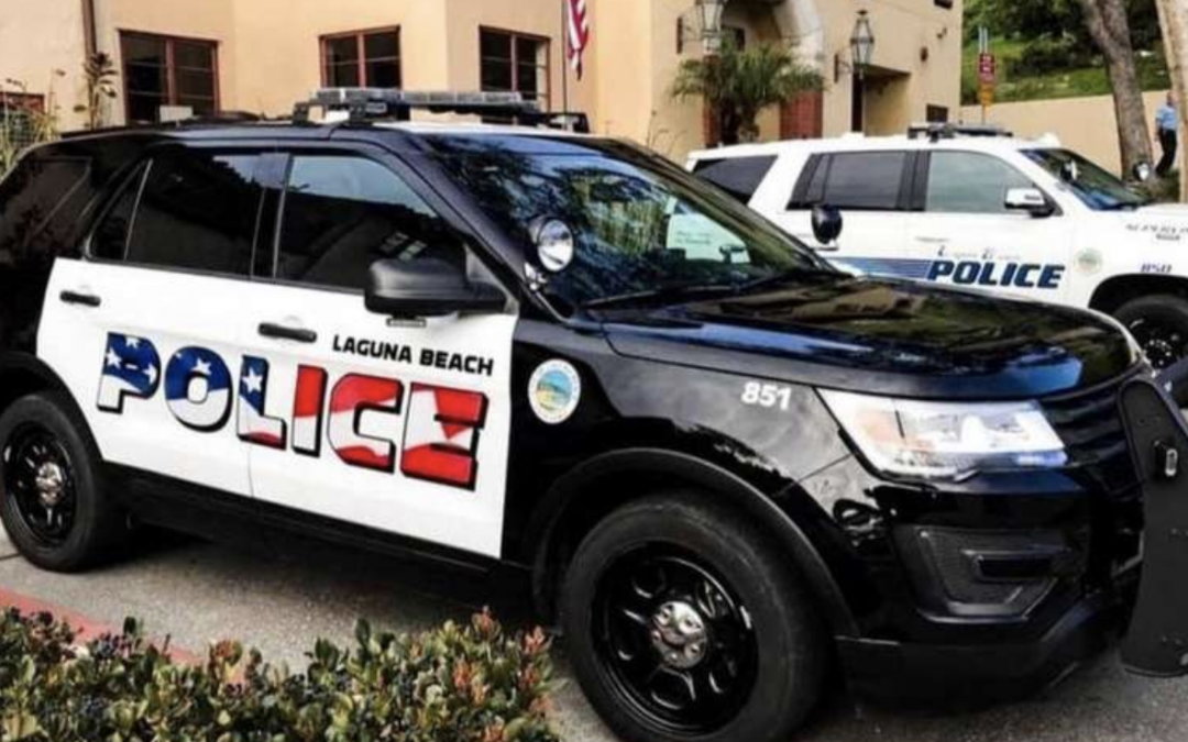 Laguna Beach Police are Under Fire for Having an American Flag Graphic…Wait What?